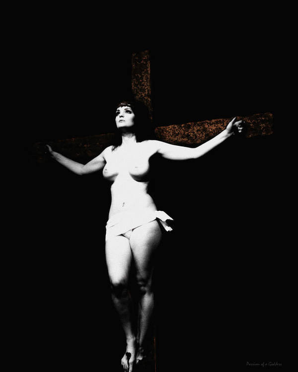 Crucifix Poster featuring the photograph Experimental Crucifix I by Ramon Martinez