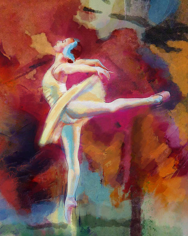 Jazz Poster featuring the painting Flamenco Dancer by Catf