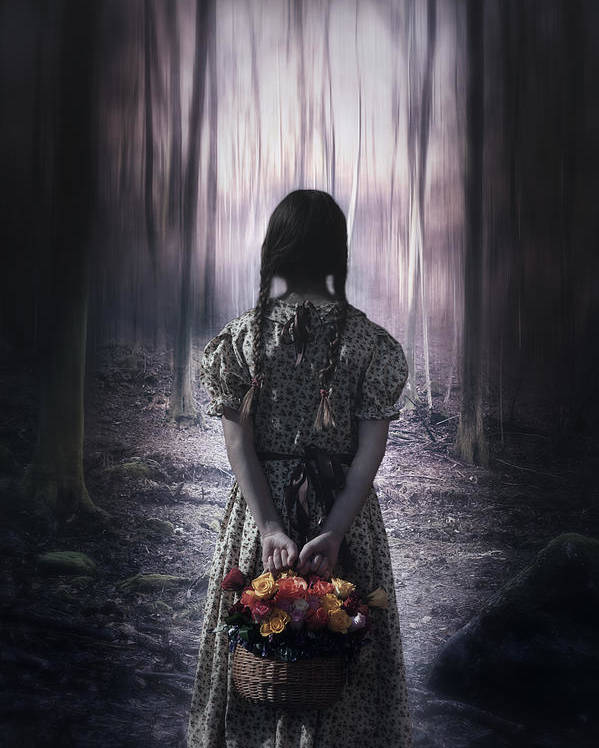 Girl Poster featuring the photograph Girl In The Woods by Joana Kruse