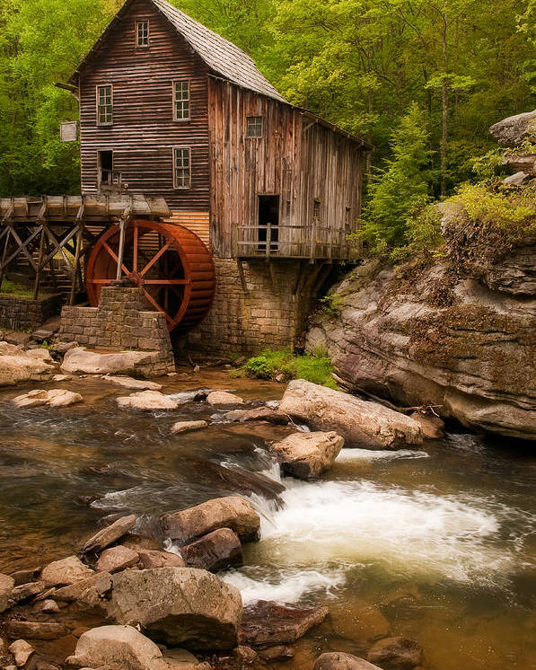 Babcock Poster featuring the photograph Glade Creek Grist Mill by Michael Blanchette