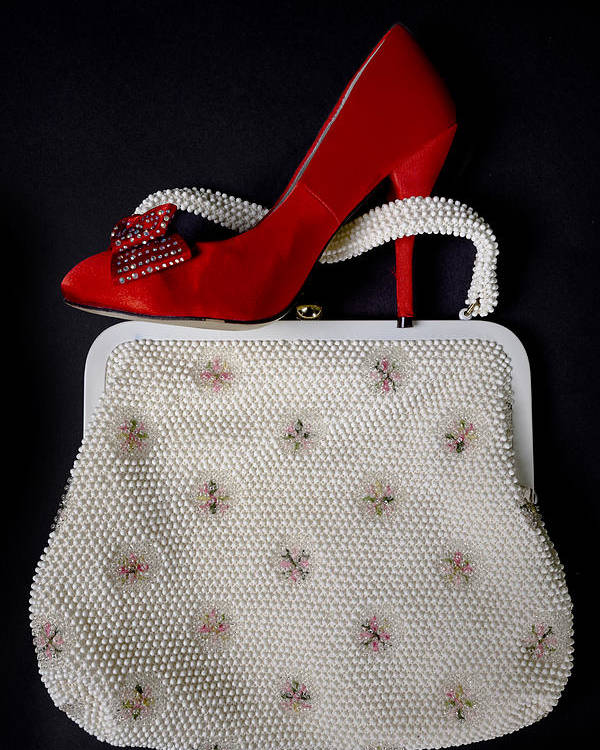 Shoe Poster featuring the photograph Handbag With Stiletto by Joana Kruse