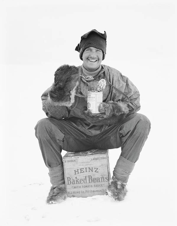 Heinz Poster featuring the photograph Heinz Baked Beans In Antarctica by Scott Polar Research Institute