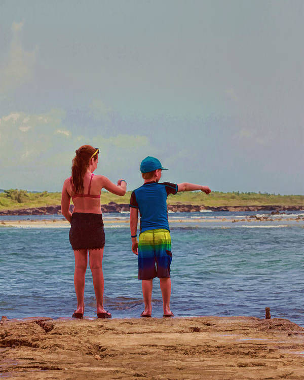 Jamaica Poster featuring the photograph Kids Exploring by Helen Bobis
