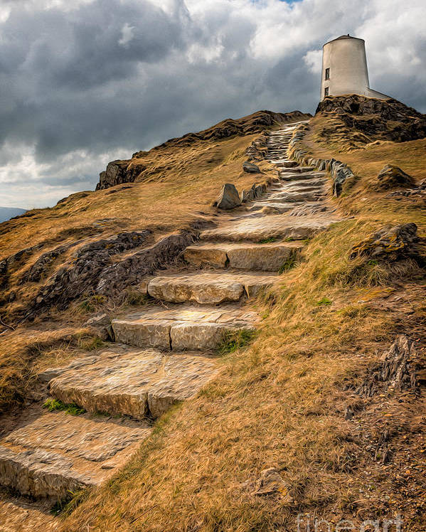 Anglesey Poster featuring the photograph Lighthouse Steps by Adrian Evans