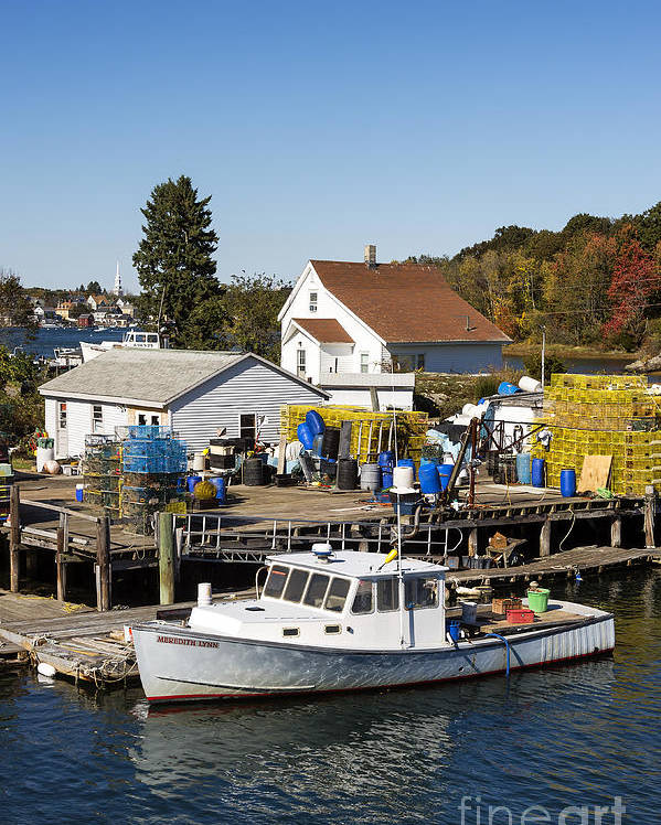 New Castle Poster featuring the photograph Lobster Boat by John Greim