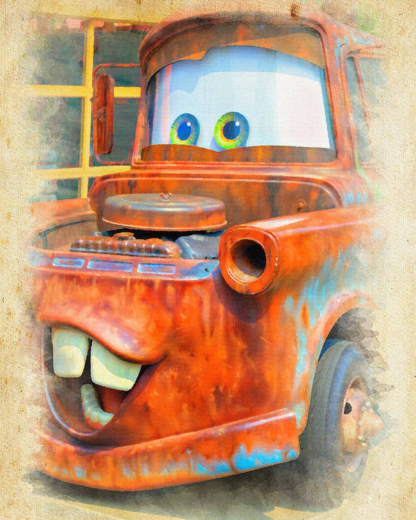 Tow Poster featuring the photograph Mater by Ricky Barnard