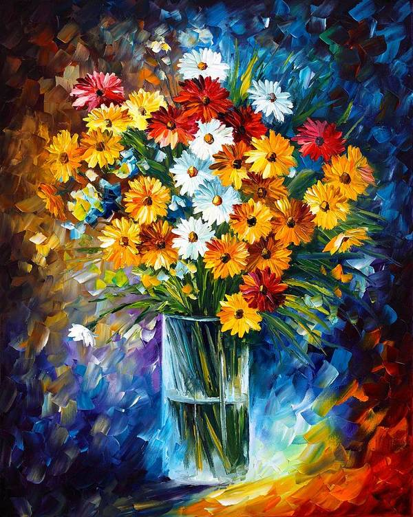 Afremov Poster featuring the painting Morning Charm by Leonid Afremov