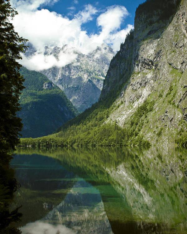 Frank Tschakert Poster featuring the photograph Mountainscape by Frank Tschakert