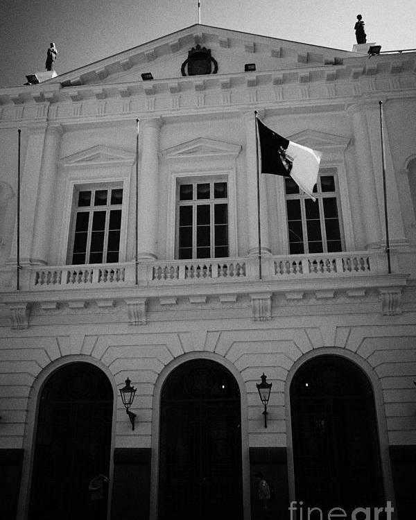 Municipalidad Poster featuring the photograph Municipalidad De Santiago City Hall Building Chile by Joe Fox