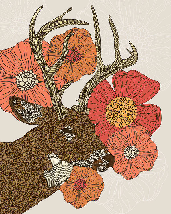 Illustration Poster featuring the photograph My Dear Deer by Valentina Ramos