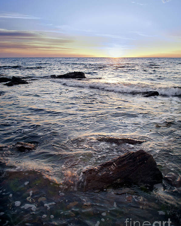Australia Poster featuring the photograph Ocean Sunset by Tim Hester