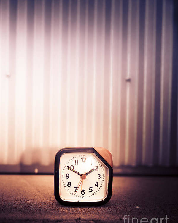 Alarm Poster featuring the photograph Old Analog Clock by Jorgo Photography - Wall Art Gallery