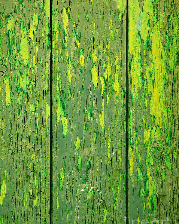 Abstract Poster featuring the photograph Old Wooden Background by Carlos Caetano