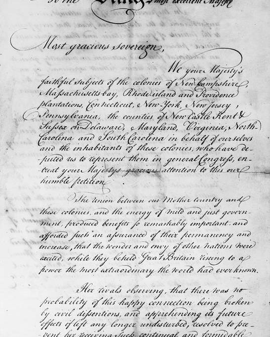 Olive Branch Petition 1775 Poster By Granger