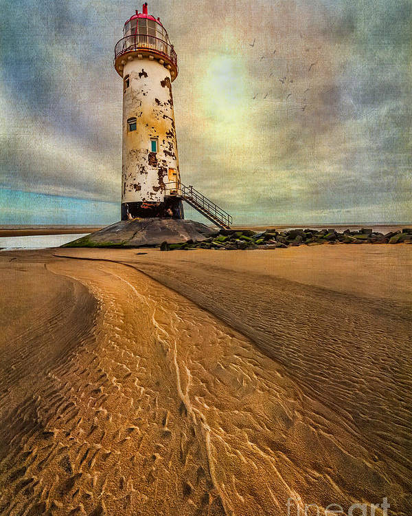 British Poster featuring the photograph Point Of Ayre Lighthouse by Adrian Evans