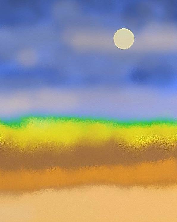 Minimal Poster featuring the painting Prairie by Lenore Senior