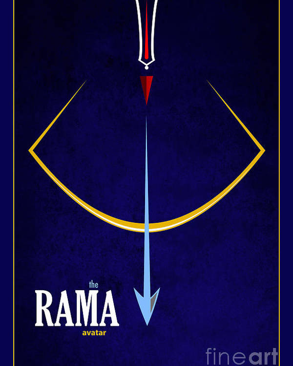 Rama Poster featuring the photograph Rama The Avatar by Tim Gainey