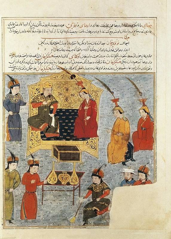 Family Poster featuring the photograph Rashid Al-din 1247 - 1318. Compendium by Everett