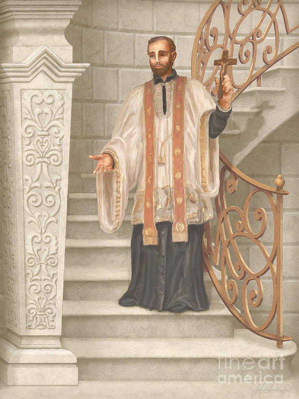 Saint Francis Xavier Poster featuring the painting Saint Francis Xavier by John Alan Warford