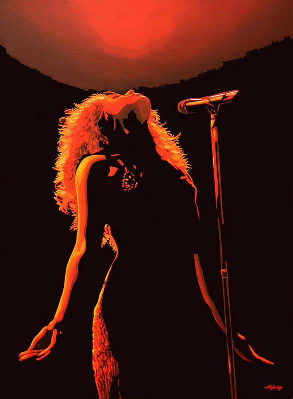 Shakira Poster featuring the painting Shakira by Paul Meijering