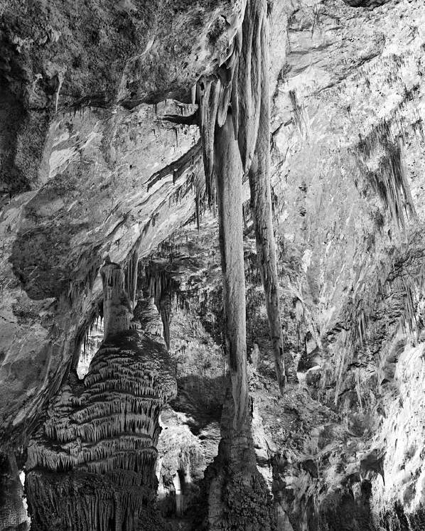 American Landmarks Poster featuring the photograph Stalactites And Stalagmites by Melany Sarafis