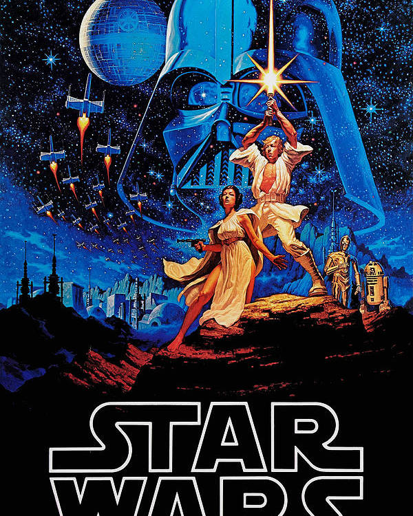 Star Poster featuring the drawing Star Wars by Farhad Tamim