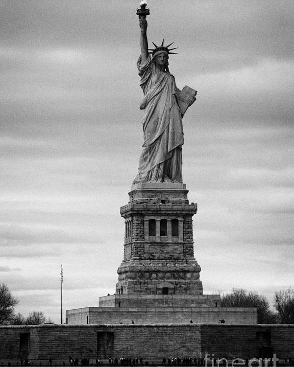 Usa Poster featuring the photograph Statue Of Liberty Liberty Island New York City by Joe Fox