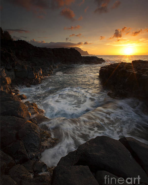 Tidepool Poster featuring the photograph Sunset Pool by Mike Dawson