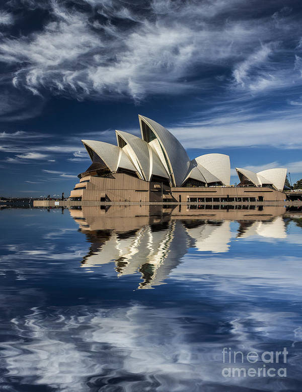 Sydney Opera House Poster featuring the photograph Sydney Opera House reflection by Sheila Smart Fine Art Photography