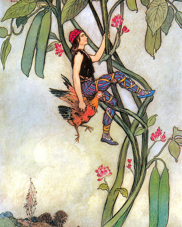 The Fairy Book Poster featuring the digital art The Fairy Book by Warwick Goble
