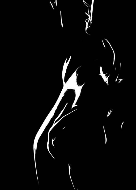 Female Woman Body Nude Breast Tits Scape Figure Curve Curves Painting Naked Black White Erotic 裸 Girl Sex Intimate Virgin Boobs Butt Innocence Male Men Man Lover Love Couple Kiss Intimo Erotico Vergine Culo Tette Innocenza Fille Femme Sexe Erotique Seduction Lust Black White Love Making Faith Long Hair Hug Expressionism Impressionism Ass Innocence Minimalism Cheerleader Lolita Poster featuring the painting The Hug by Steve K