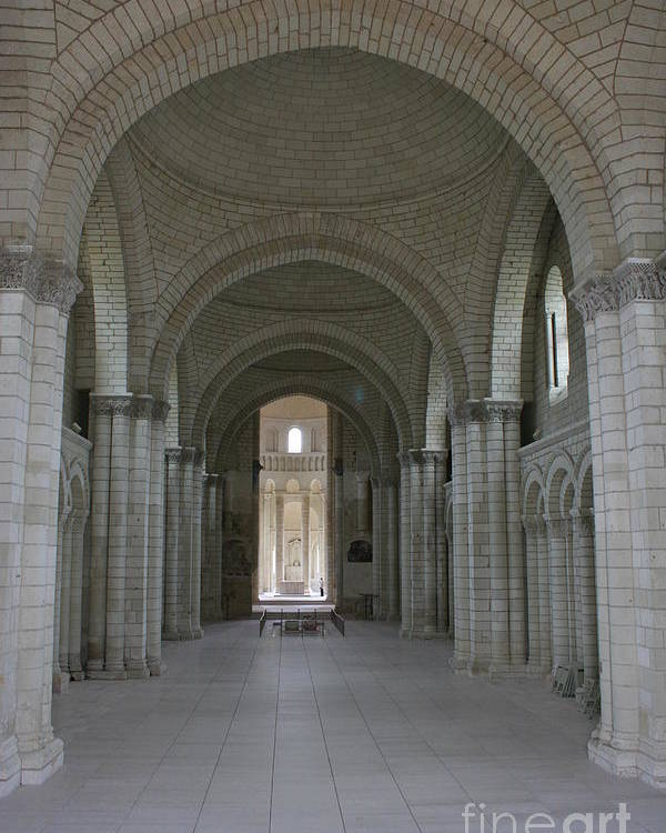 Nave Poster featuring the photograph The Nave - Cloister Fontevraud by Christiane Schulze Art And Photography