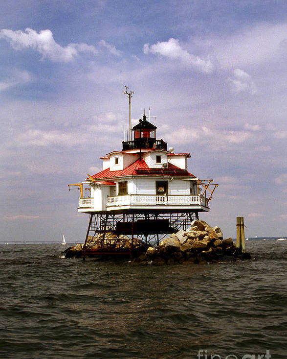 Lighthouses Poster featuring the photograph Thomas Point Shoal Lighthouse by Skip Willits