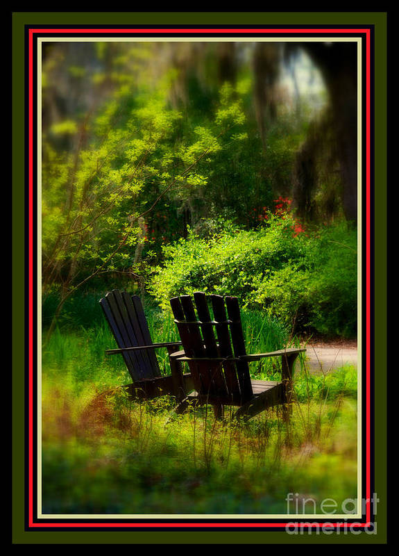 Chairs Poster featuring the photograph Time For Coffee by Susanne Van Hulst