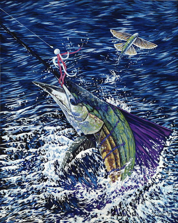 Sailfish Poster featuring the painting Top Sail by Danielle Perry