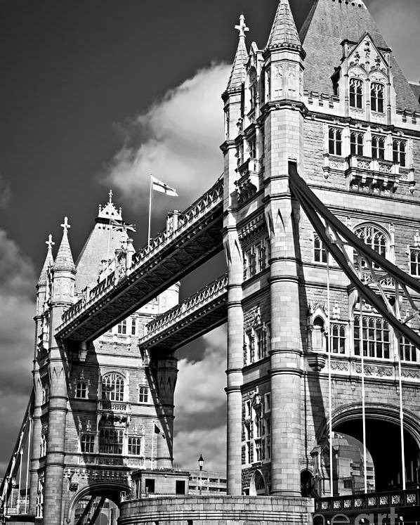 Tower Poster featuring the photograph Tower Bridge In London by Elena Elisseeva