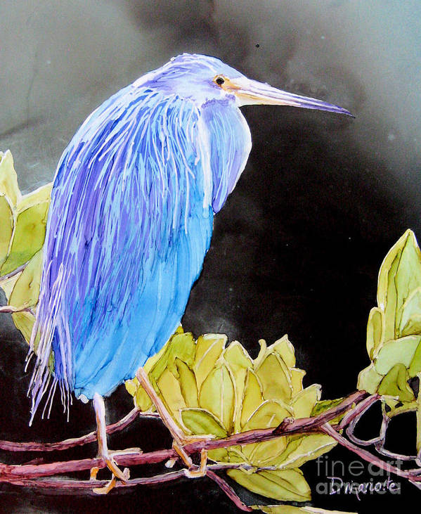Heron Poster featuring the painting Tricolored Heron by Diane Marcotte