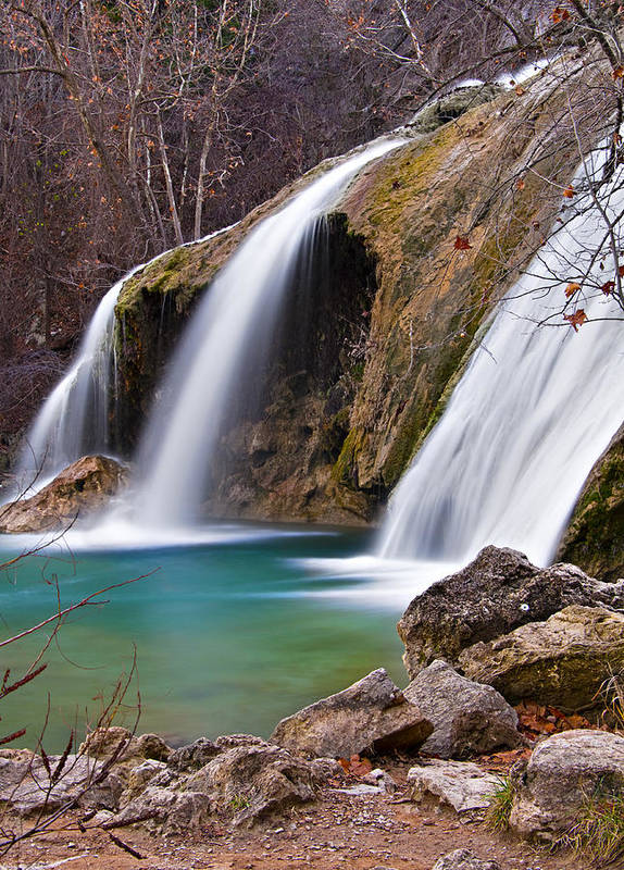 Nature Poster featuring the photograph Turner Falls by Ricky Barnard