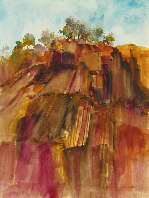 Berryessa Gap Poster featuring the painting View To The West by Nancy Hilden
