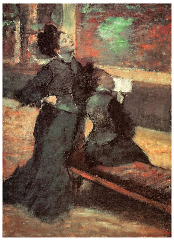 Edgar Degas Poster featuring the painting Visit To A Museum by Edgar Degas