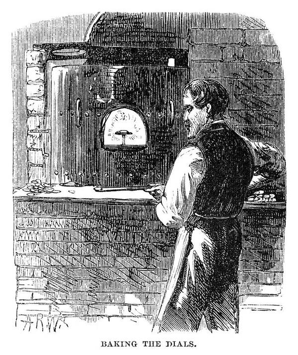 1869 Poster featuring the painting Watchmaker, 1869 by Granger