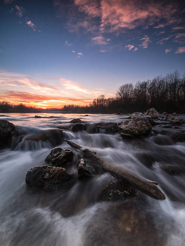 Landscapes Poster featuring the photograph Wild River by Davorin Mance