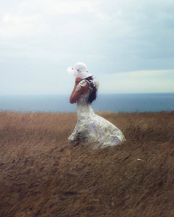 Girl Poster featuring the photograph Windy Day by Joana Kruse