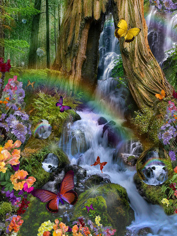 Alixandra Mullins Poster featuring the photograph Woodland Forest Fairyland by Alixandra Mullins