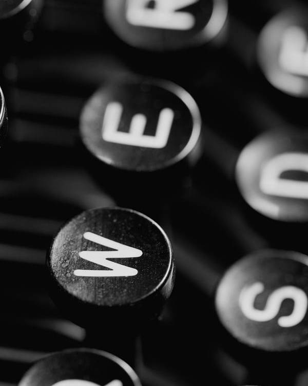 Schreibmaschinentasten Poster featuring the photograph Typewriter Keys by Falko Follert