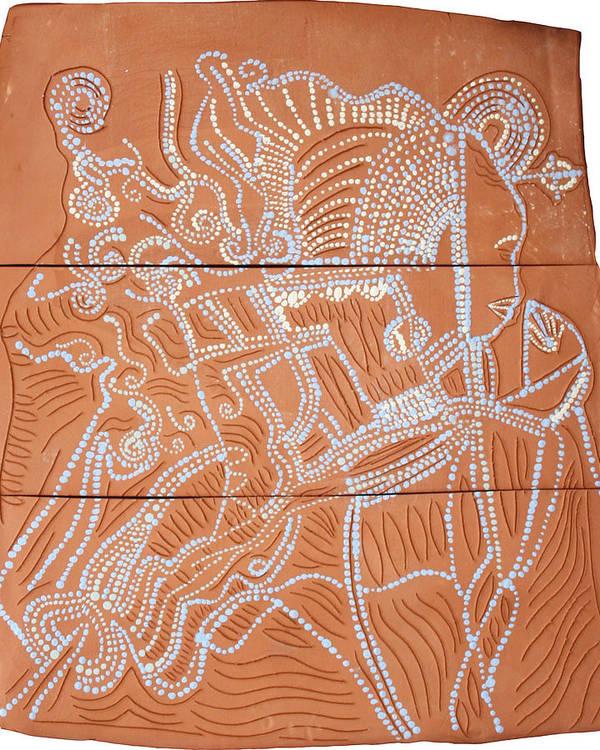Our Lady Poster featuring the ceramic art Bikira Maria by Gloria Ssali