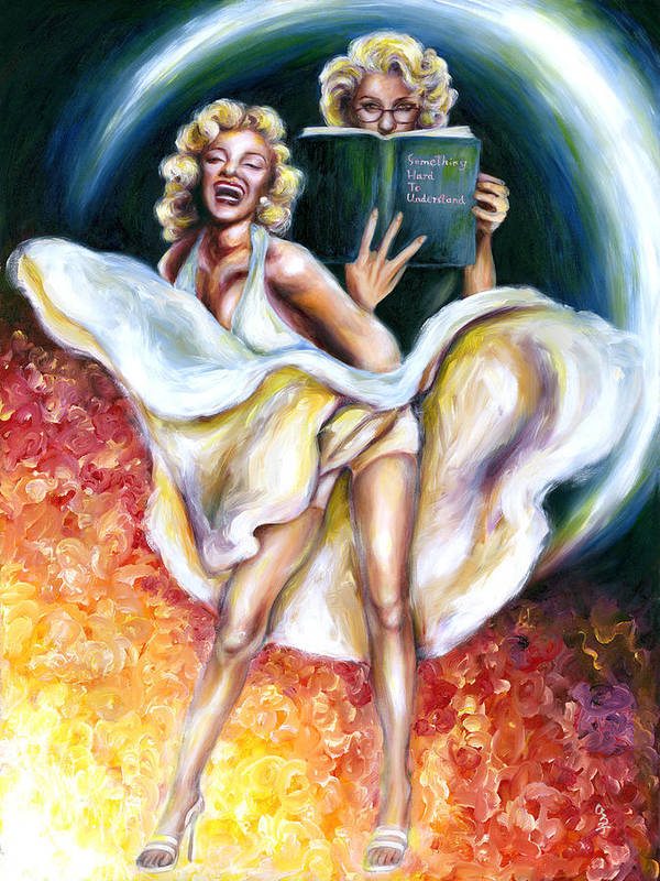 Marilyn Monroe Parody Poster featuring the painting 12 Signs Series Gemini by Hiroko Sakai