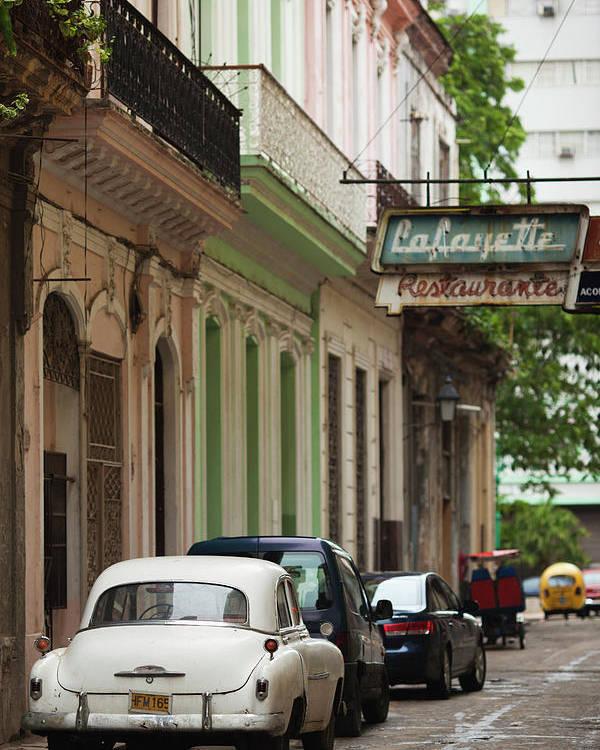 American Poster featuring the photograph Cuba, Havana, Havana Vieja, Morning by Walter Bibikow