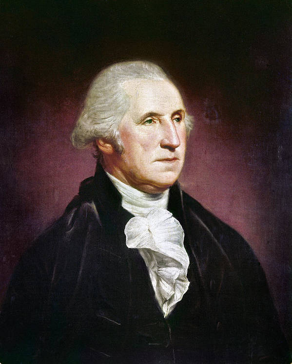 1795 Poster featuring the photograph George Washington by Granger