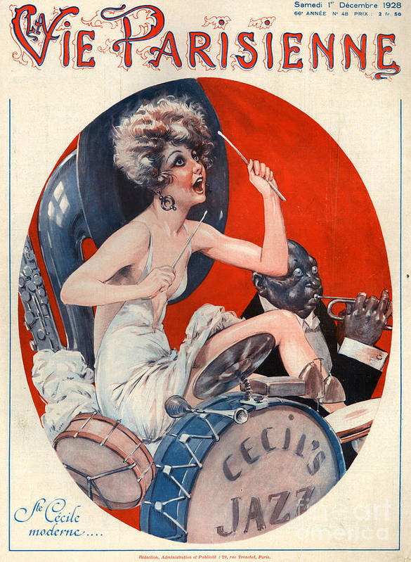 France Poster featuring the drawing 1920s France La Vie Parisienne Magazine by The Advertising Archives